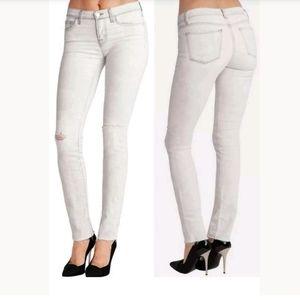 J Brand Mid Rise Rail skinny jeans in Hysteria 27